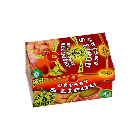 Milota Dětský ovocný s lípou 40g(20x2g) bez aromat, bez ibišku