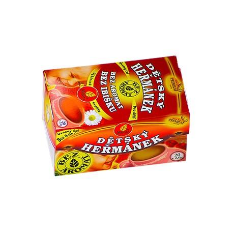 Milota Dětský ovocný s heřmánkem 40g(20x2g) bez aromat, bez ibišku